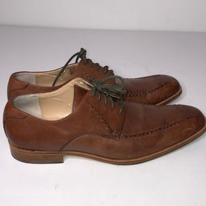 Calvin Klein brown leather lace up dress shoes 9.5